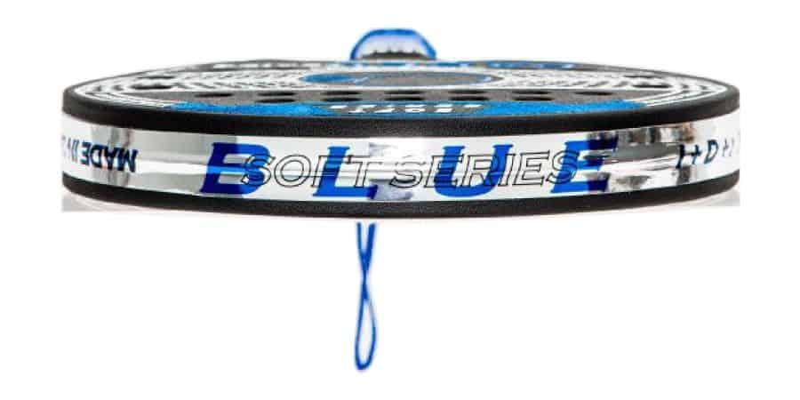 Imagen de la pala soft series blue de padel series tumbada frontal
